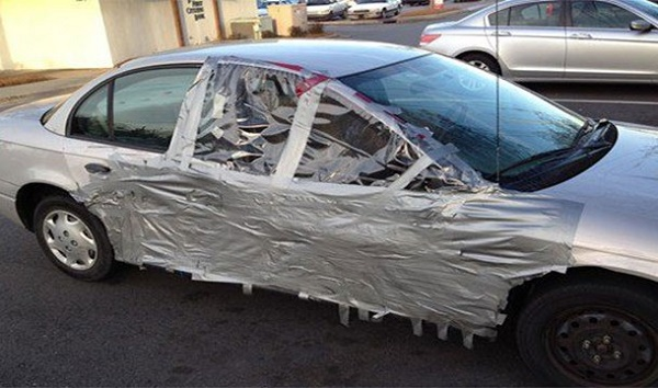 7-Unusual-Uses-Of-Duct-Tapes-Fixing-A-Car-In-Cheap