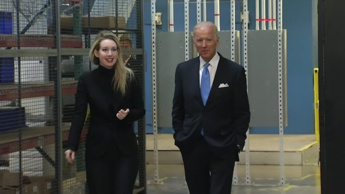 Элизабет Холмс и вице-президент США, Джо Байден